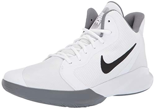Nike Unisex-Adult Precision III Basketball Shoe, White/Black, 9 M US