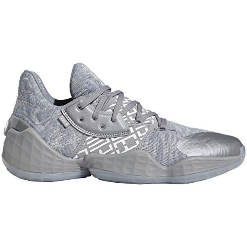 adidas Harden Vol. 4 Shoe - Men's Basketball Grey/White