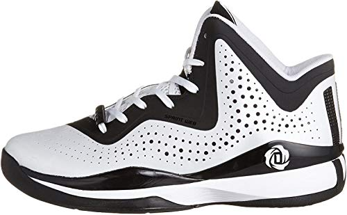 adidas D Rose 773 III Mens Basketball Shoe 8 White-Black