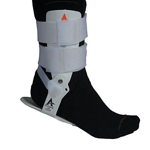Active Ankle T1 Rigid Ankle Brace For Injured Ankle Protection and Sprain Support, L, White