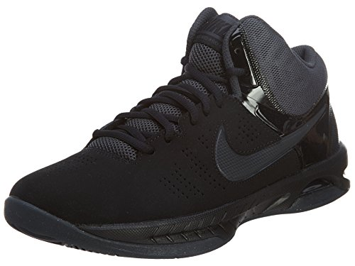 Nike Air Visi Pro VI Nubuck Men's Basketball Shoes, Black/Anthracite, Size 8.5