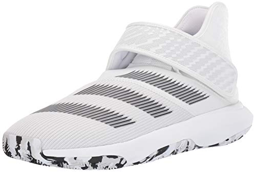 adidas Men's Harden B/E 3 Basketball Shoe, White/Black/Grey, 9.5 M US