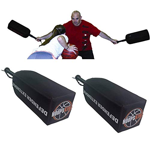 HoopsKing Defender Extender Basketball Training Pads - Volleyball Blocking Drills - Football Quarterback Pass Rush Distractor - Makes Players Learn to Handle Taller, Faster, & More Athletic Opponents