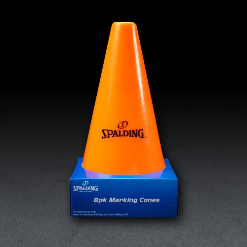 Spalding Training Cones (8-Pack), Orange