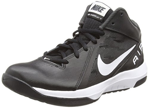 Nike Men's The Air Overplay IX Basketball, White/Black/Pure Platinum, Size 10.5