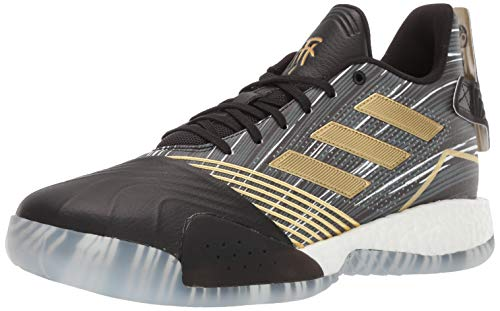 adidas Men's TMAC Millennium Basketball Shoe, Black/Gold Metallic/Dark Grey Heather Solid Grey, 9.5 M US
