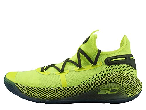 Under Armour Mens Curry 6 Basketball Shoe (High Vis Yellow/High Vis Yellow-Guardian Green, Numeric_11)
