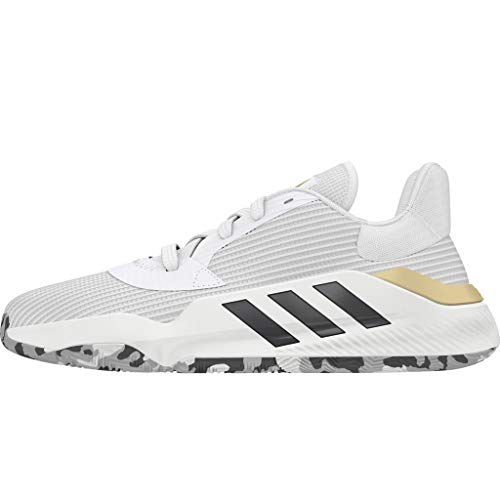 adidas Pro Bounce 2019 Low White/Black/Gold Basketball Shoes 10.5