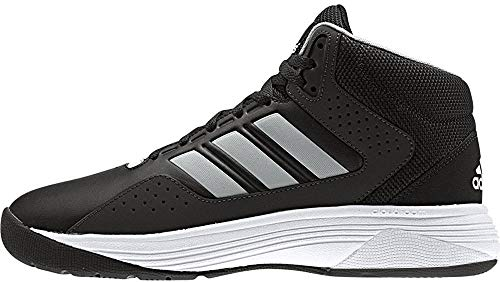 adidas NEO Men's Cloudfoam Ilation Mid Wide Basketball Shoe, Black/Matte Silver/White, 6.5 W US