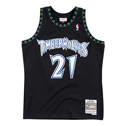 Mitchell & Ness Kevin Garnett Minnesota Timberwolves Swingman Throwback 1997-1998 Replica Jersey (Large)