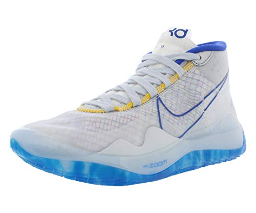 Nike Zoom KD 12 Basketball Shoes (M13/W14.5, White/Royal Blue)