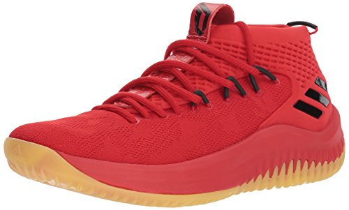 adidas Dame 4 Shoe Men's Basketball, Scarlet / Hi-res Red / Core Black, 20 M US