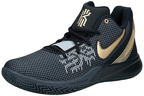 Nike Men's Basketball Shoes, Black/Metallic Gold/Anthracite, 12 UK