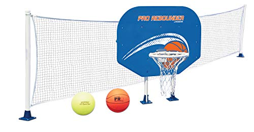 Poolmaster Swimming Pool Basketball and Volleyball Game Combo, Above-Ground Pool