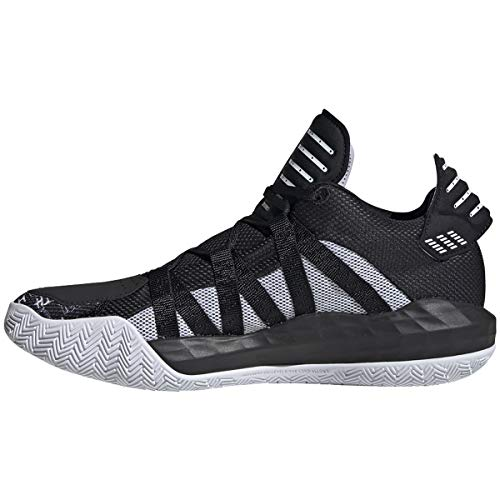adidas Dame 6 Shoe - Unisex Basketball Core Black/White