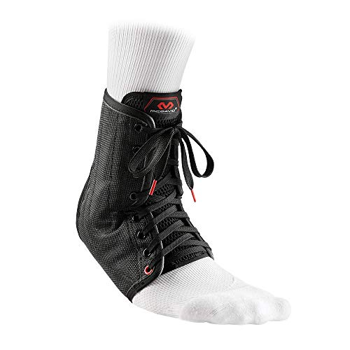 McDavid 199 Lightweight Laced Ankle Brace, Black, Large