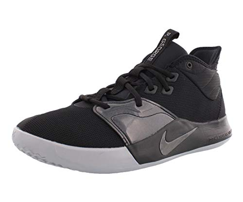 Nike Men's PG 3 Basketball Shoes (10, Black/Black)