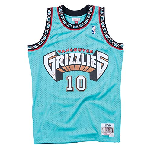 Mitchell & Ness Vancouver Grizzlies Mike Bibby 1998 Road Swingman Jersey (Large)