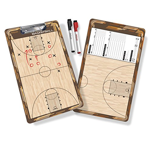 GoSports Basketball Dry Erase Coaches Board with 2 Dry Erase Pens