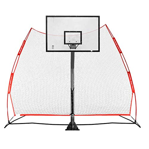 Rukket Basketball 12x13 Return Net Guard and Backstop, Hoop Rebound Back Netting Attachment for Yard, Home & Residential Use, Barrier System for Safety and Retention (XL Return Net)