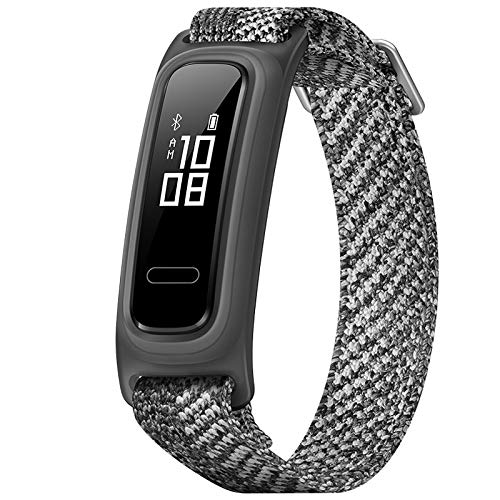 Huawei Sports Bracelet, Band 4e Smart Band Dual Wrist&Footwear Mode Basketball Data Monitor Waterproof Smart Sports Bracelet(Gray)