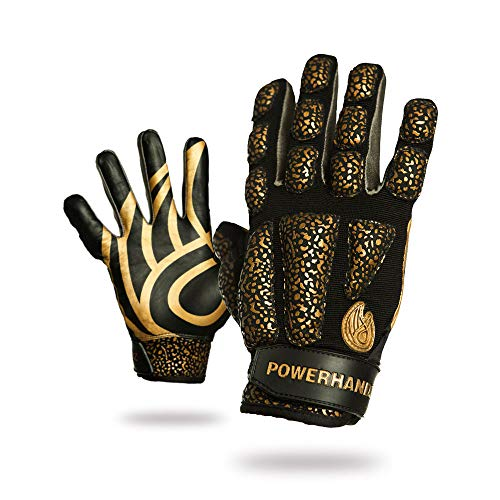 POWERHANDZ Weighted Anti-Grip Basketball Gloves for Ball Handling, Improved Dribbling, Strength and Resistance Training - Medium- 0.5 lb
