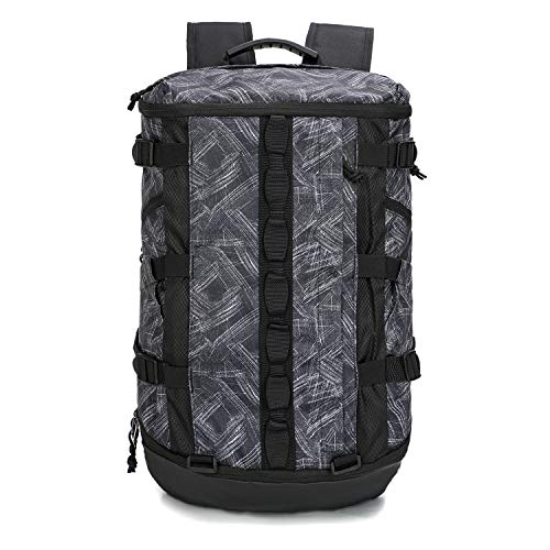 TRAILKICKER Basketball Backpack, 26L Gym Backpack with Laptop Compartment, Sport Backpack for Soccer, Volleyball, Swim and Badminton, Grey