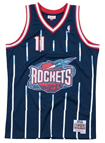 Yao Ming Houston Rockets Mitchell and Ness Men's Navy Throwback Jesey XX-Large