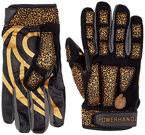 POWERHANDZ Weighted Anti-Grip Basketball Gloves for Ball Handling, Improved Dribbling, Strength and Resistance Training - Large- 1.0 lb