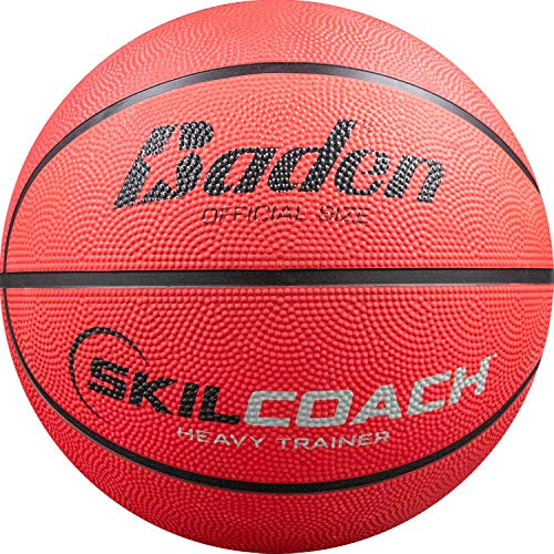 Baden SkilCoach Heavy Trainer Rubber Basketball, Yellow, 28.5-Inch
