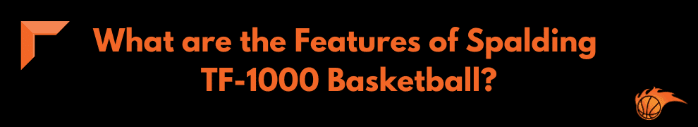 What are the Features of Spalding TF-1000 Basketball