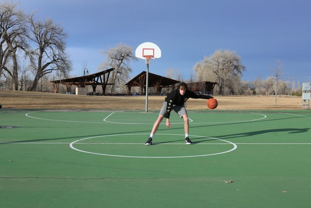 Is Dribbling the Basketball High a Carry